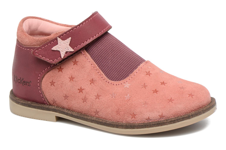 Chaussures à scratch Kickers Moly Rose vue détail/paire