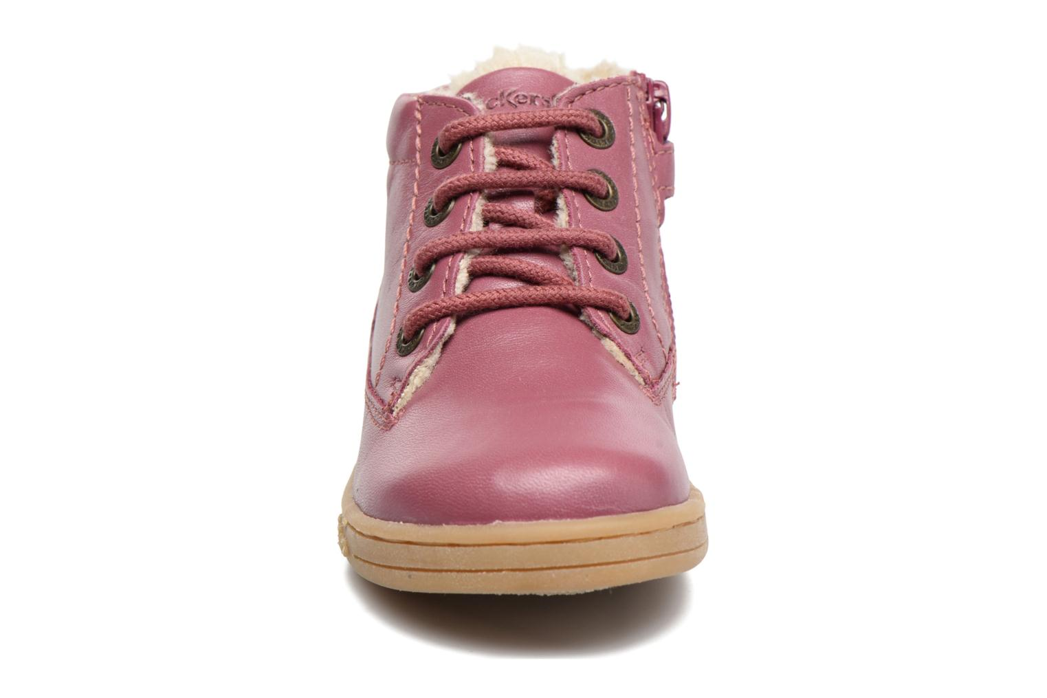 Baskets Kickers Tracking Rose vue portées chaussures