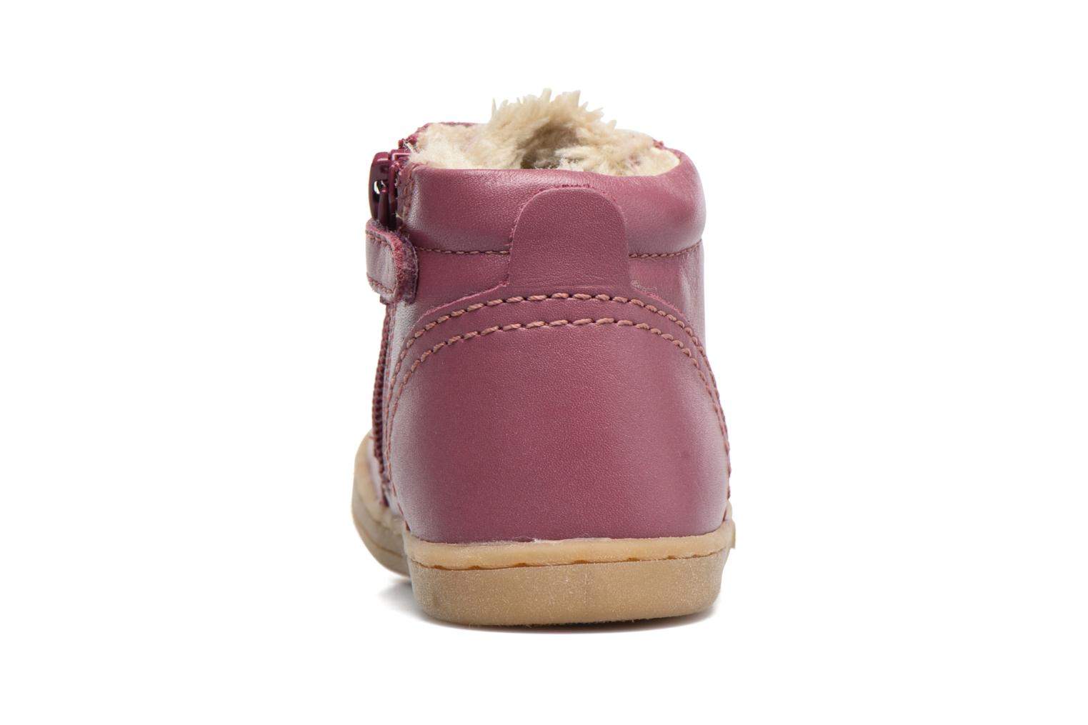 Baskets Kickers Tracking Rose vue droite