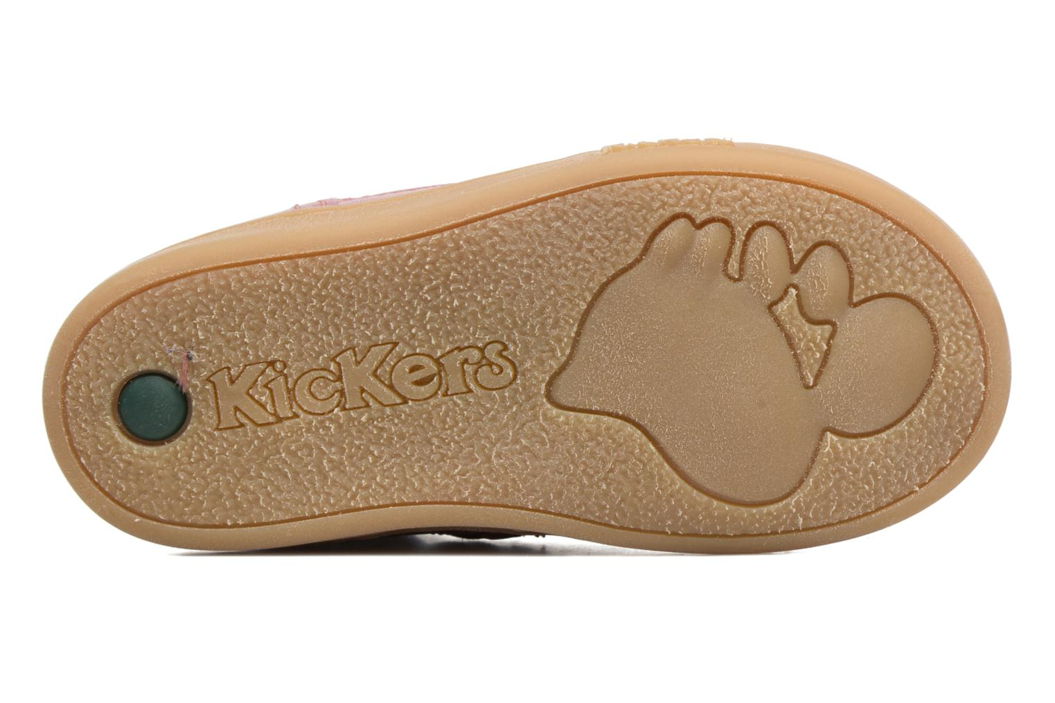 Baskets Kickers Tracking Rose vue haut