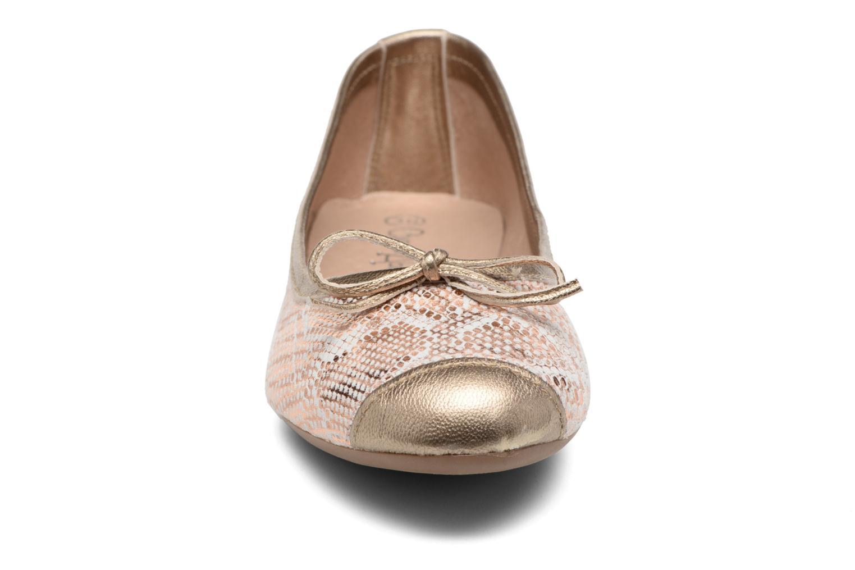 Ballerines Coco et abricot Belline 4 Or et bronze vue portées chaussures