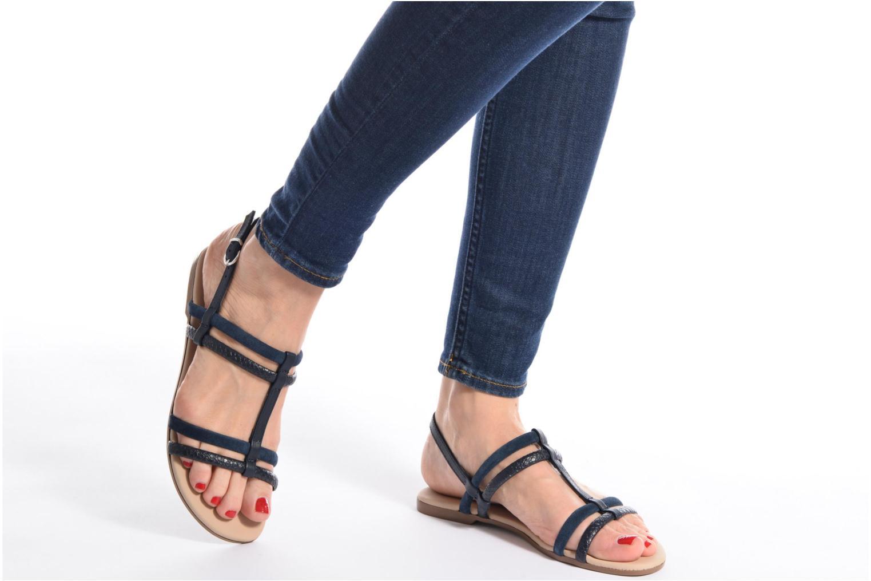 Sandales et nu-pieds Georgia Rose Mollie Or et bronze vue bas / vue portée sac