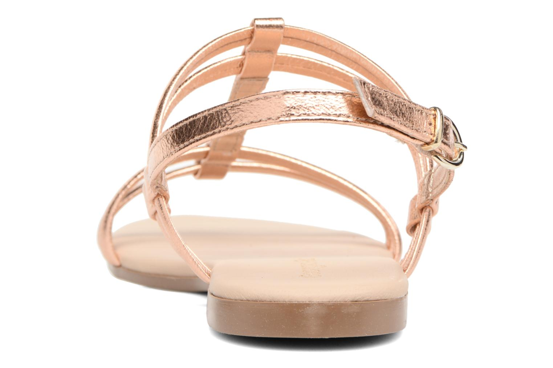 Sandales et nu-pieds Georgia Rose Mollie Or et bronze vue droite