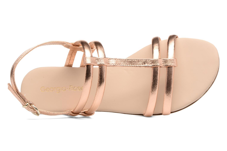 Sandales et nu-pieds Georgia Rose Mollie Or et bronze vue gauche