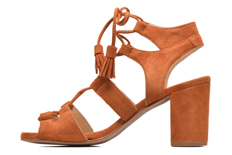 Sandales et nu-pieds Anaki Carilo Marron vue face
