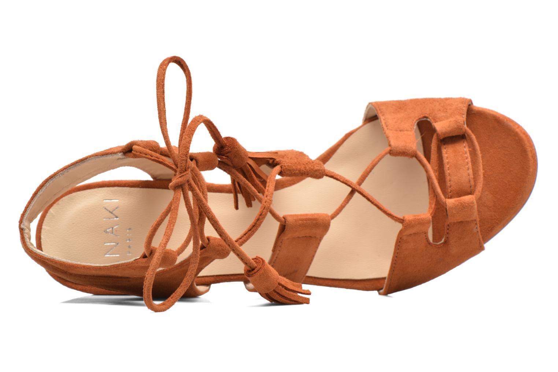 Sandales et nu-pieds Anaki Carilo Marron vue gauche