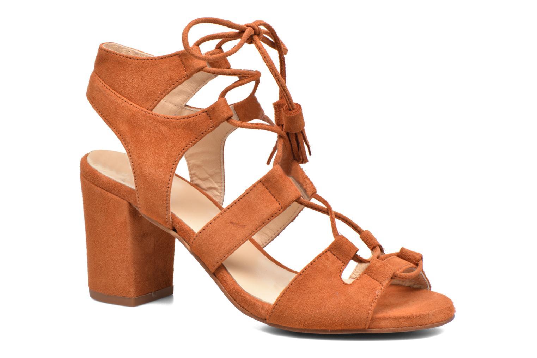 Sandales et nu-pieds Anaki Carilo Marron vue détail/paire