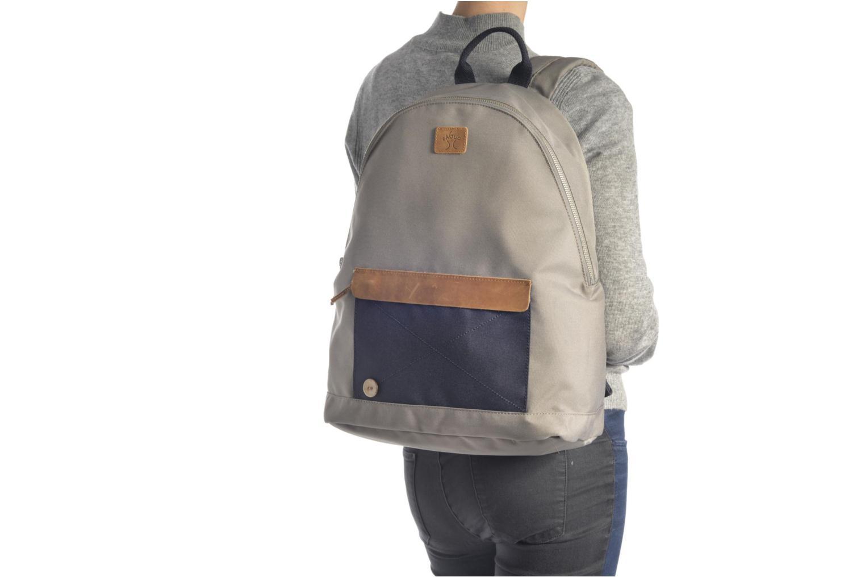 Sacs à dos Faguo Backpack Nylon 2 Beige vue haut