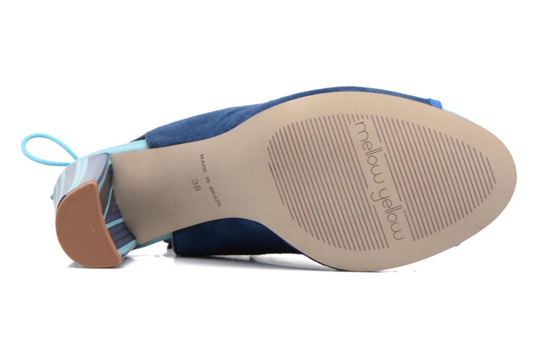 Sandales et nu-pieds Mellow Yellow Bravo Bleu vue haut
