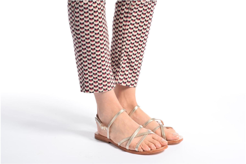 Sandales et nu-pieds Mellow Yellow Baloma Or et bronze vue bas / vue portée sac