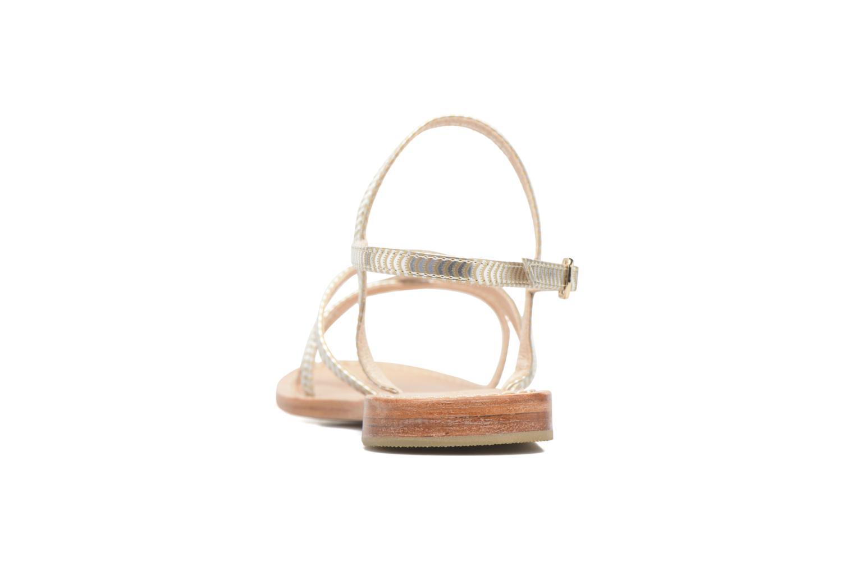 Sandales et nu-pieds Mellow Yellow Baloma Or et bronze vue droite