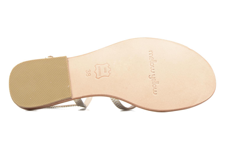 Sandales et nu-pieds Mellow Yellow Baloma Or et bronze vue haut
