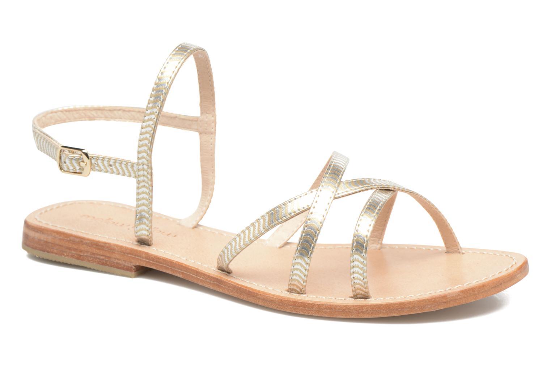 Sandales et nu-pieds Mellow Yellow Baloma Or et bronze vue détail/paire