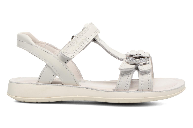 Sandali e scarpe aperte Clarks Sea Sally Bianco immagine posteriore