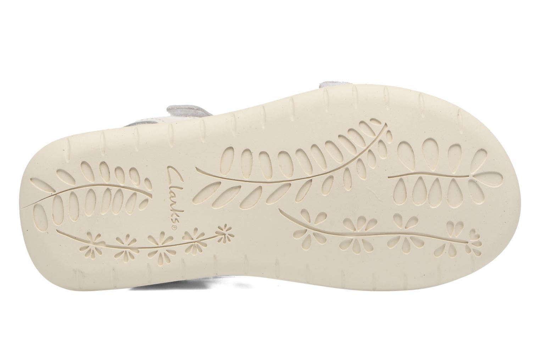 Sandali e scarpe aperte Clarks Sea Sally Bianco immagine dall'alto