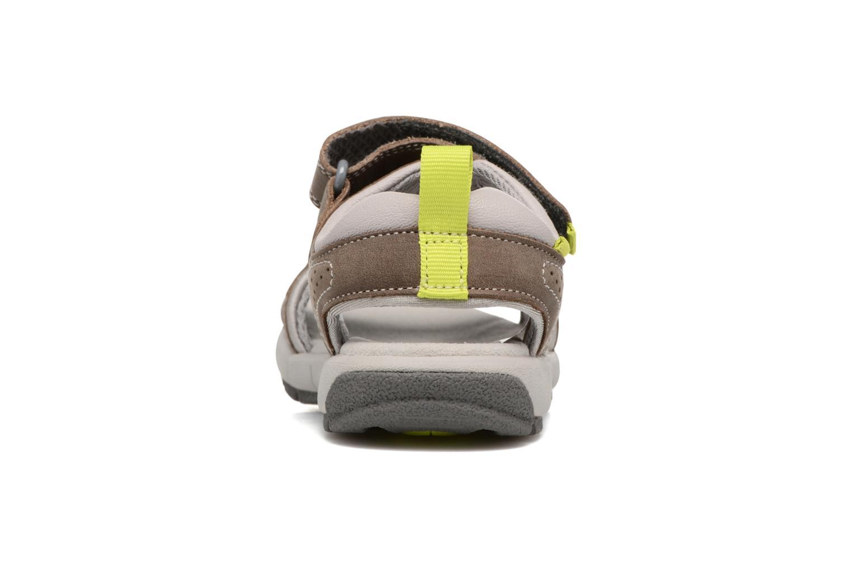 Sandales et nu-pieds Clarks Jolly Wild Gris vue droite