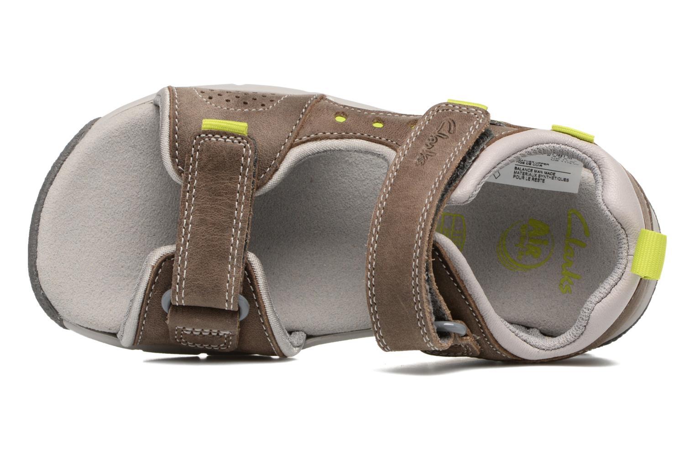 Sandales et nu-pieds Clarks Jolly Wild Gris vue gauche