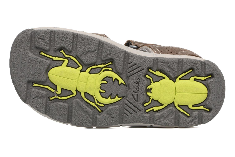 Sandales et nu-pieds Clarks Jolly Wild Gris vue haut