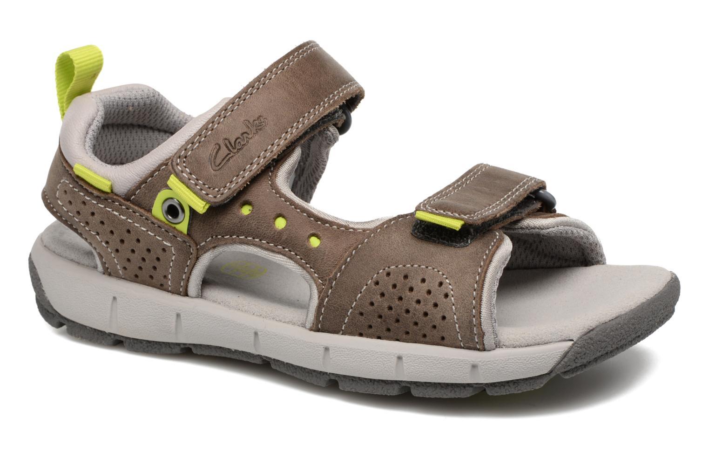 Sandales et nu-pieds Clarks Jolly Wild Gris vue détail/paire
