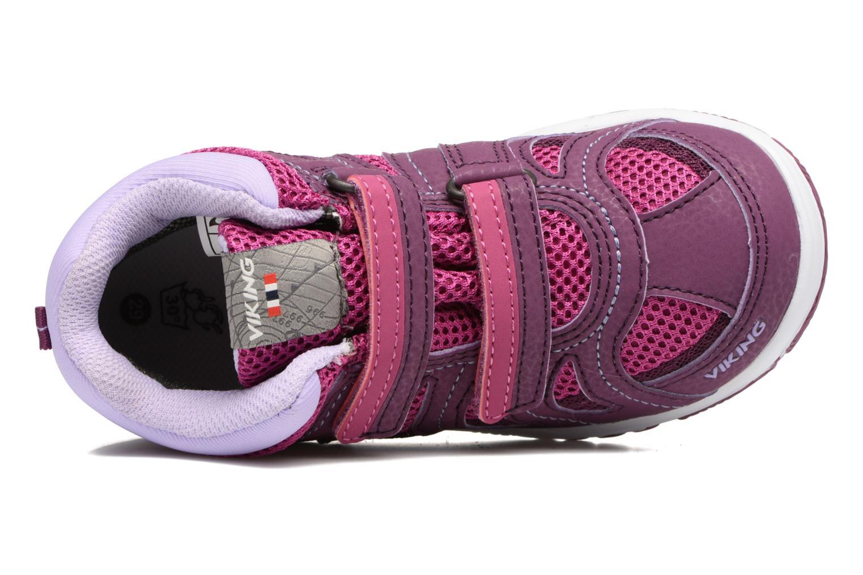 Chaussures de sport Viking Cascade 2 mid GTX Violet vue gauche