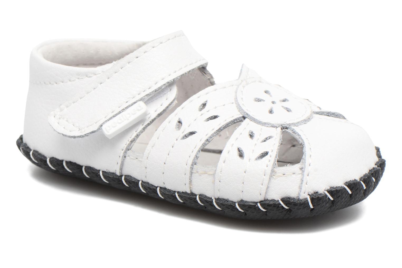 Pantoffels Pediped Daphne Wit detail