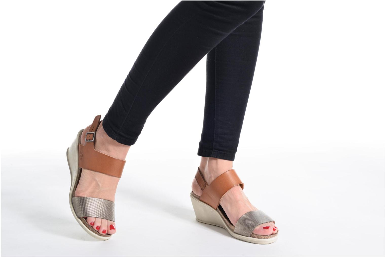 Sandales et nu-pieds P-L-D-M By Palladium Sheldon Mix Marron vue bas / vue portée sac