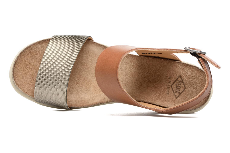 Sandales et nu-pieds P-L-D-M By Palladium Sheldon Mix Marron vue gauche