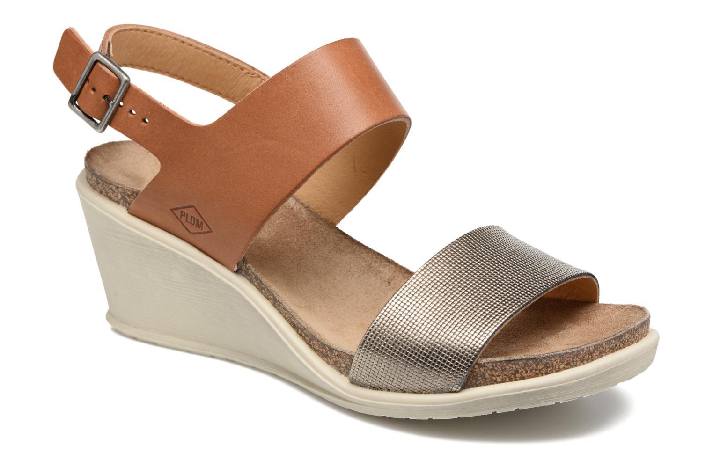 Sandales et nu-pieds P-L-D-M By Palladium Sheldon Mix Marron vue détail/paire