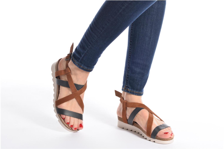 Sandales et nu-pieds P-L-D-M By Palladium Rita Jkt Bleu vue bas / vue portée sac