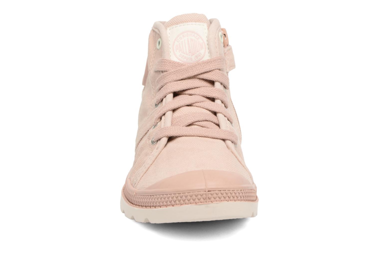 Bottines et boots Palladium Pallab Mid Lp K Rose vue portées chaussures