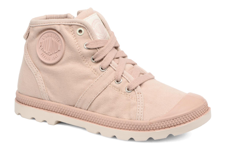 Bottines et boots Palladium Pallab Mid Lp K Rose vue détail/paire