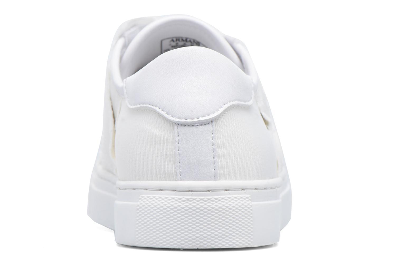 Baskets Armani Jeans Livia Blanc vue droite