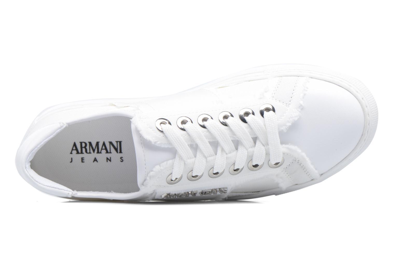 Baskets Armani Jeans Livia Blanc vue gauche