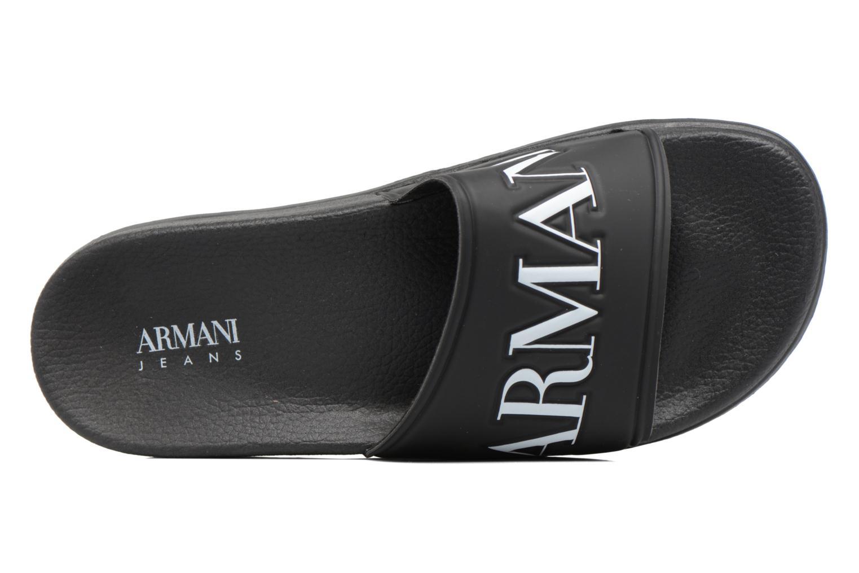 Sandales et nu-pieds Armani Jeans Paciano Noir vue gauche