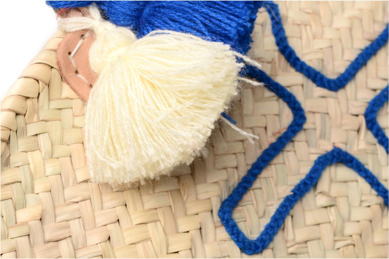Handtassen Etincelles Panier artisanal Ancre Bleu Blauw links