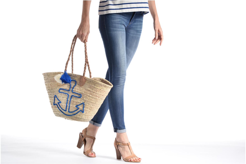 Handtassen Etincelles Panier artisanal Ancre Bleu Blauw boven
