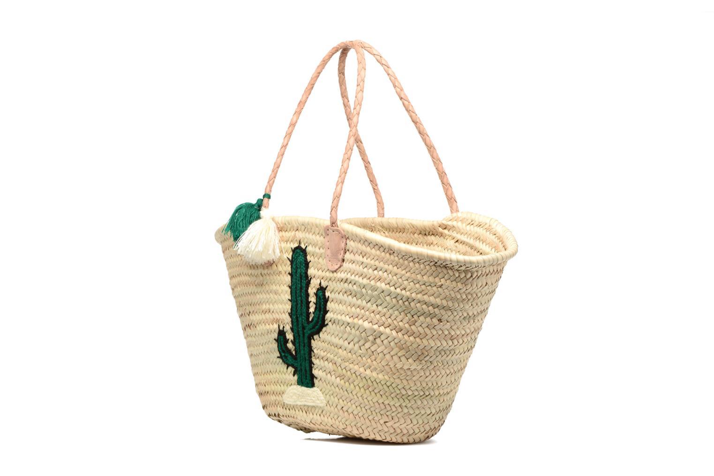 Handtaschen Etincelles Panier artisanal Cactus Vert grün schuhe getragen