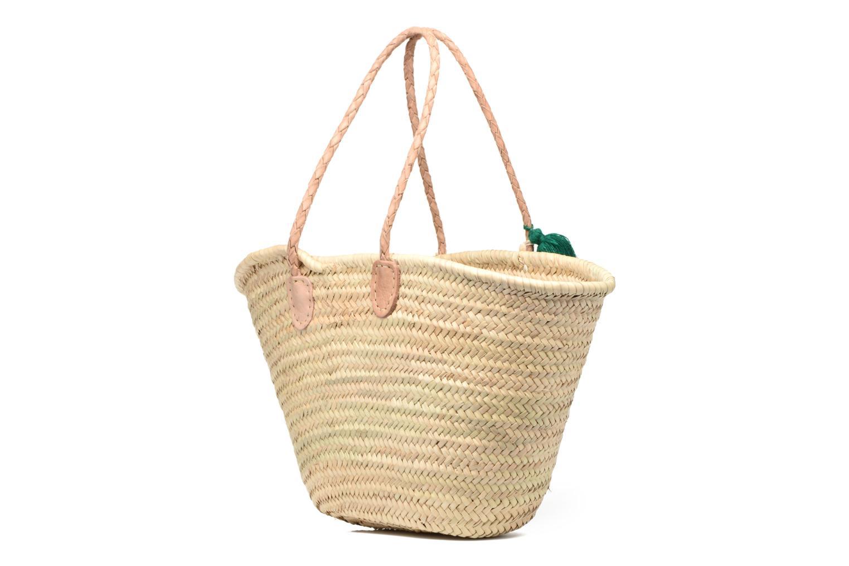 Handtaschen Etincelles Panier artisanal Cactus Vert grün ansicht von rechts
