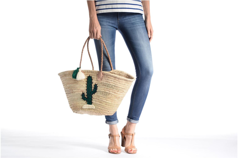 Handtaschen Etincelles Panier artisanal Cactus Vert grün ansicht von oben