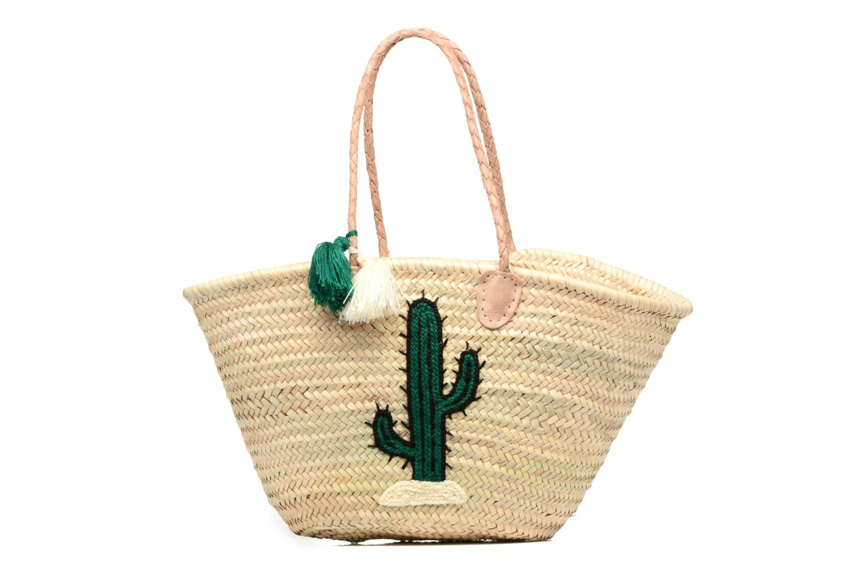 Panier artisanal Cactus Vert Dessin vert