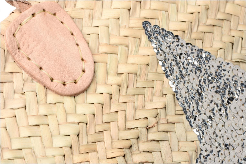 Sacs à main Etincelles Panier artisanal Etoile Argent Argent vue gauche