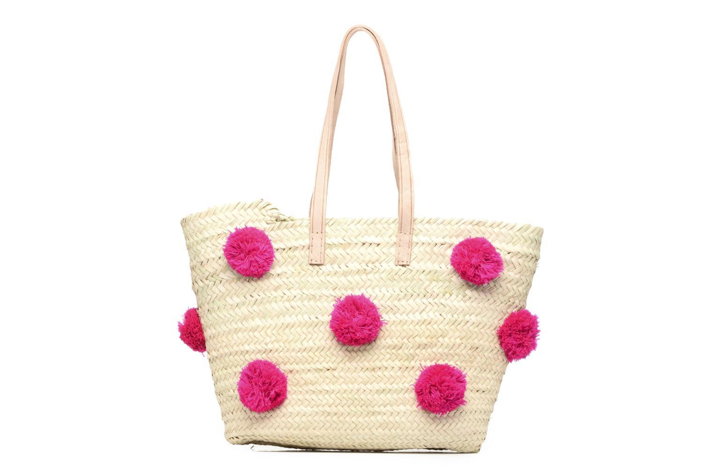 Handtaschen Etincelles Panier artisanal Pompom Fuschia rosa ansicht von vorne