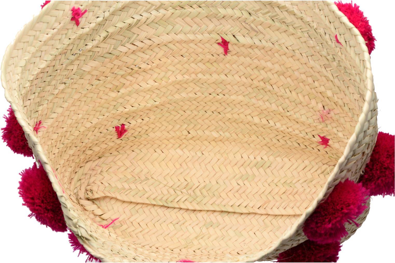 Handtaschen Etincelles Panier artisanal Pompom Fuschia rosa ansicht von hinten