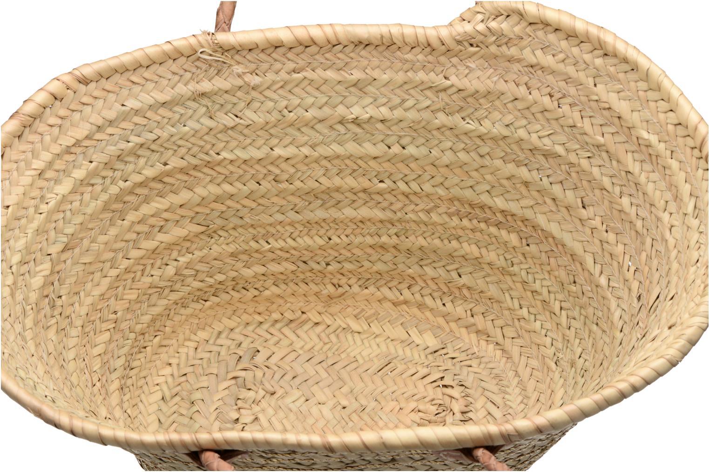 Handbags Etincelles Panier artisanal Rayure Sequin Or Bronze and Gold back view