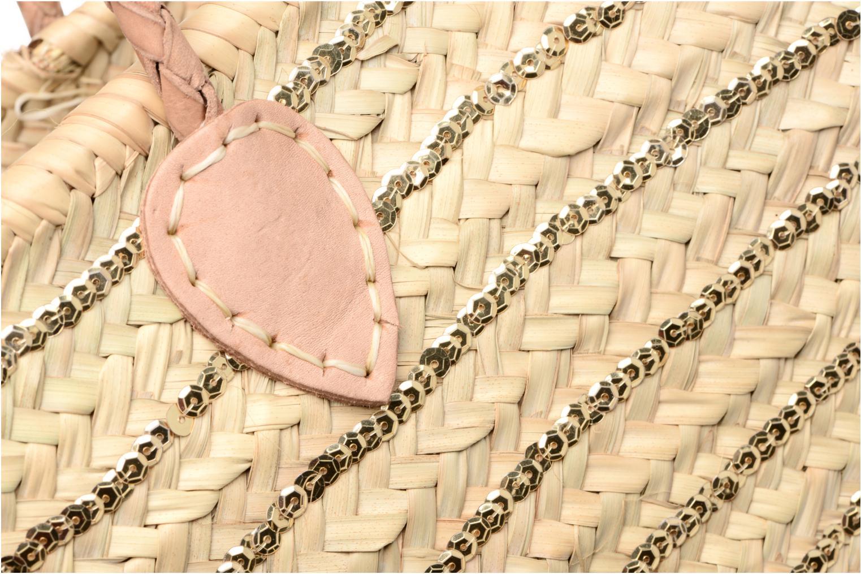 Panier artisanal Rayure Sequin Or Or