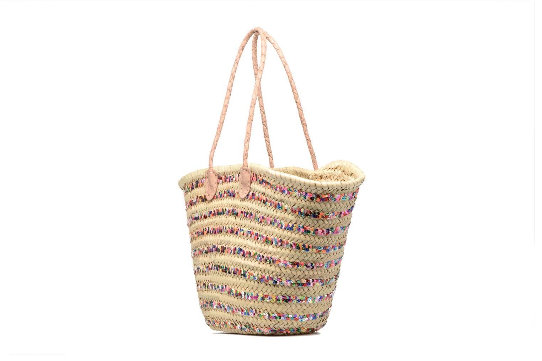 Handtaschen Etincelles Panier artisanal Rayure Sequin Multi mehrfarbig schuhe getragen