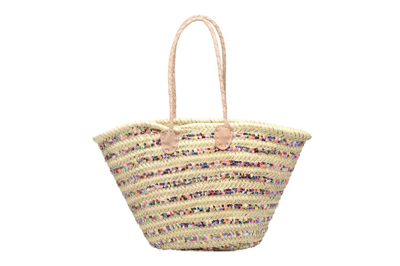 Sacs à main Etincelles Panier artisanal Rayure Sequin Multi Multicolore vue face