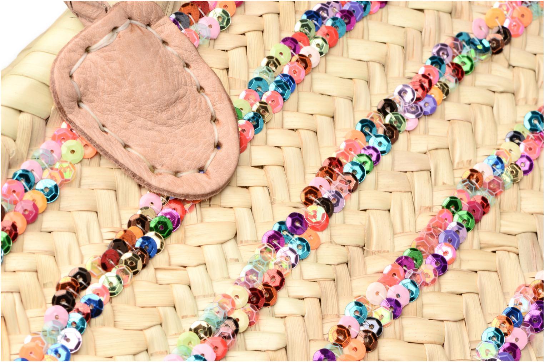 Sacs à main Etincelles Panier artisanal Rayure Sequin Multi Multicolore vue gauche
