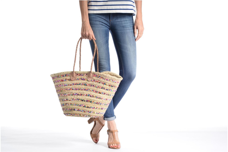 Handtaschen Etincelles Panier artisanal Rayure Sequin Multi mehrfarbig ansicht von oben