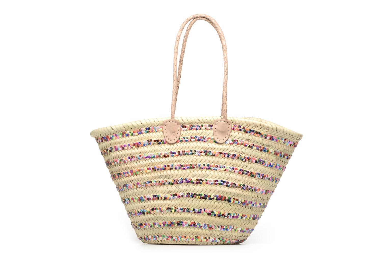 Sacs à main Etincelles Panier artisanal Rayure Sequin Multi Multicolore vue détail/paire